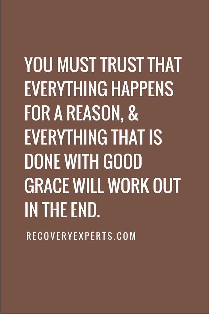 Inspirational Quote You Must Trust That Everything Happens For A