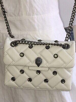 KURT GEIGER LONDON QUILTED WHITE BAG, Funky Summer Chain Bag,handbag New Mini | eBay