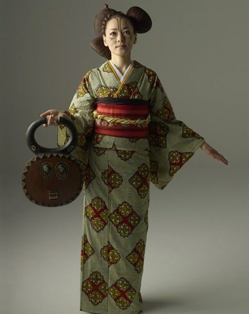Image result for African prints meet Japanese kimonos in beautiful collection created by Cameroonian designer [Photos].