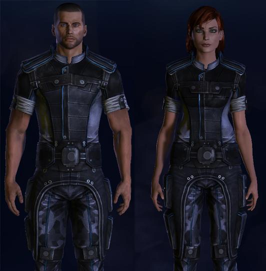 Commander Shepard's Normandy crew uniform from Mass Effect 3