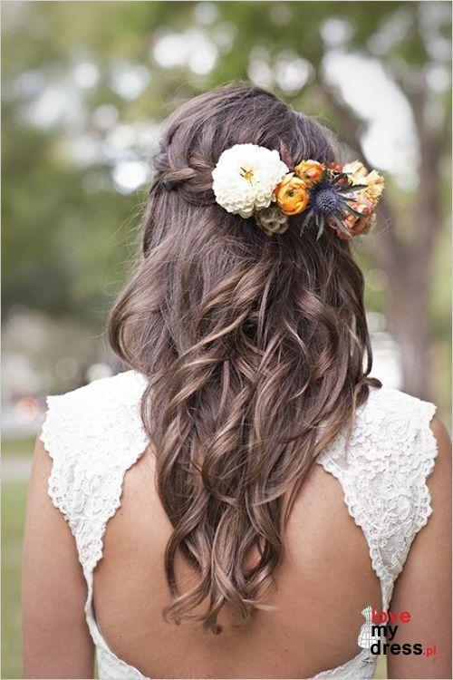 Fryzura ślubna Z żywymi Kwiatami ślub I Wesele Fryzury