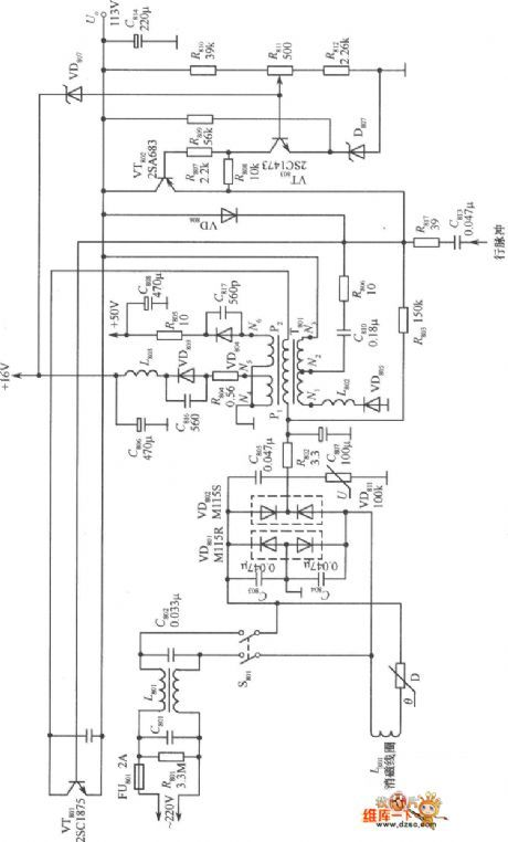 non isolated switching power supply circuit diagram this is a rh pinterest com PC Power Supply Wiring Diagram Power Supply Wiring Diagram