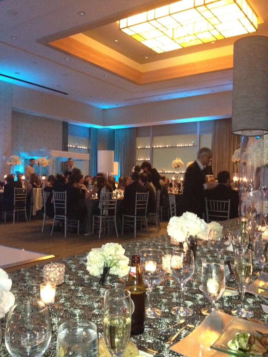 View of half of the ballroom from the head table #wedding #ballroom #fairmont #fairmontpittsburgh