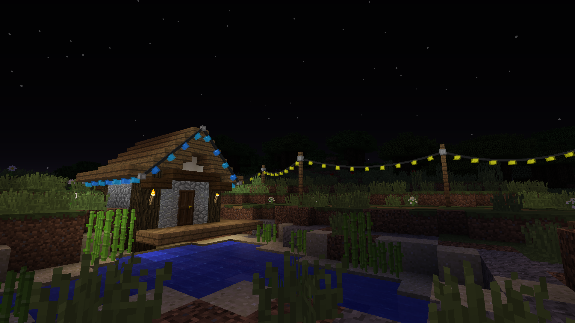 Fairy Lights Decorate Your World With Hanging Lights And Bunting Minecraft Mods Mapping And Modding Minec Lamp Design Fairy Lights Wooden Lamps Design