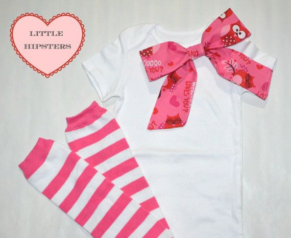 Baby Girls Valentine's Day Outfit Girls Baby by TheLittleHipsters