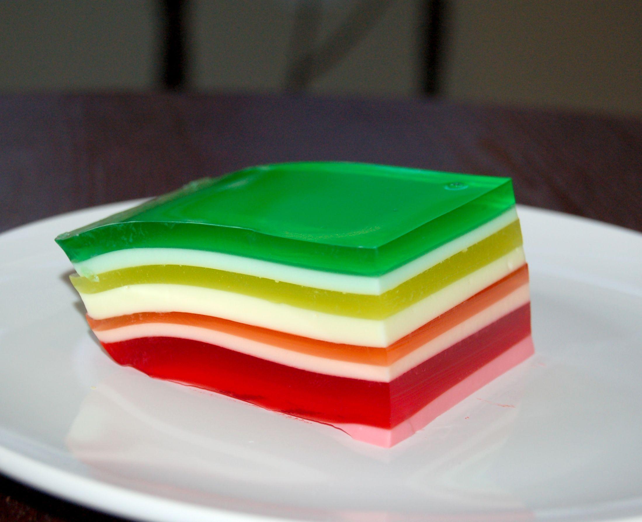Rainbow Layered Jello Recipe Layered Jello Jello Salad Desserts