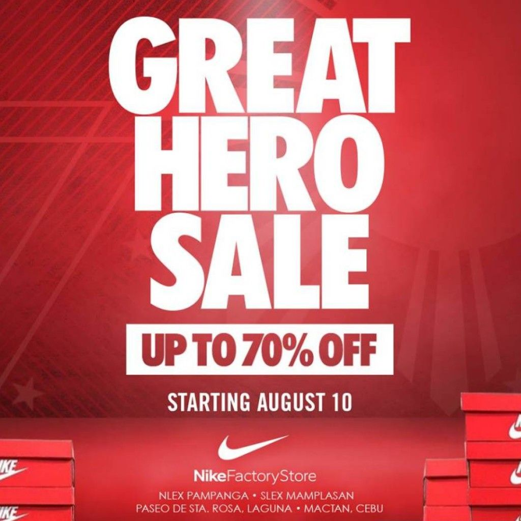 45d23d8f83a6 Nike factory stores the great hero sale starting aug jpg 1024x1024 Nike  factory sale