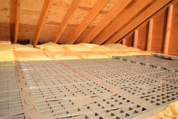 Attic Dek Floor System On The House Garage Attic Attic