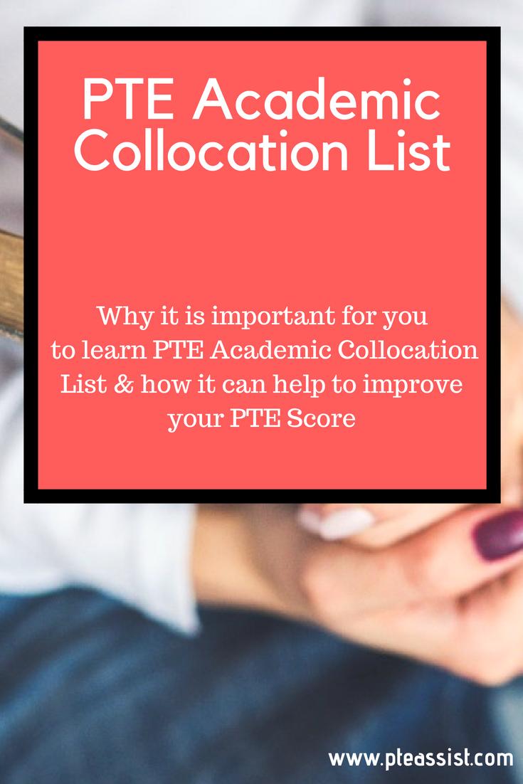 PTE Academic Collocation List | PTE Academic Preparation