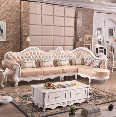 Classic Style Living Room Furniture French Style Furniture Luxury Furniture Living Room Leather Sofa Living Room