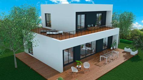 booa-maison-crepi-toop5 casa modern en 2018 Pinterest Casas