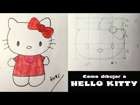 Como Dibujar A Hello Kitty Dibujo Paso A Paso Youtube Dibujo Paso A Paso Hello Kitty Cosas De Hello Kitty