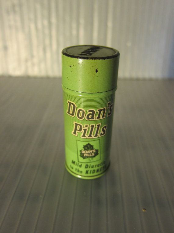 Vintage Tin Vintage Doans Pill Tin in Greens by   Etsy
