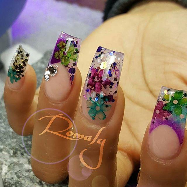 romallynails | encapsulado | Pinterest | Diseños de uñas, Uñas ...