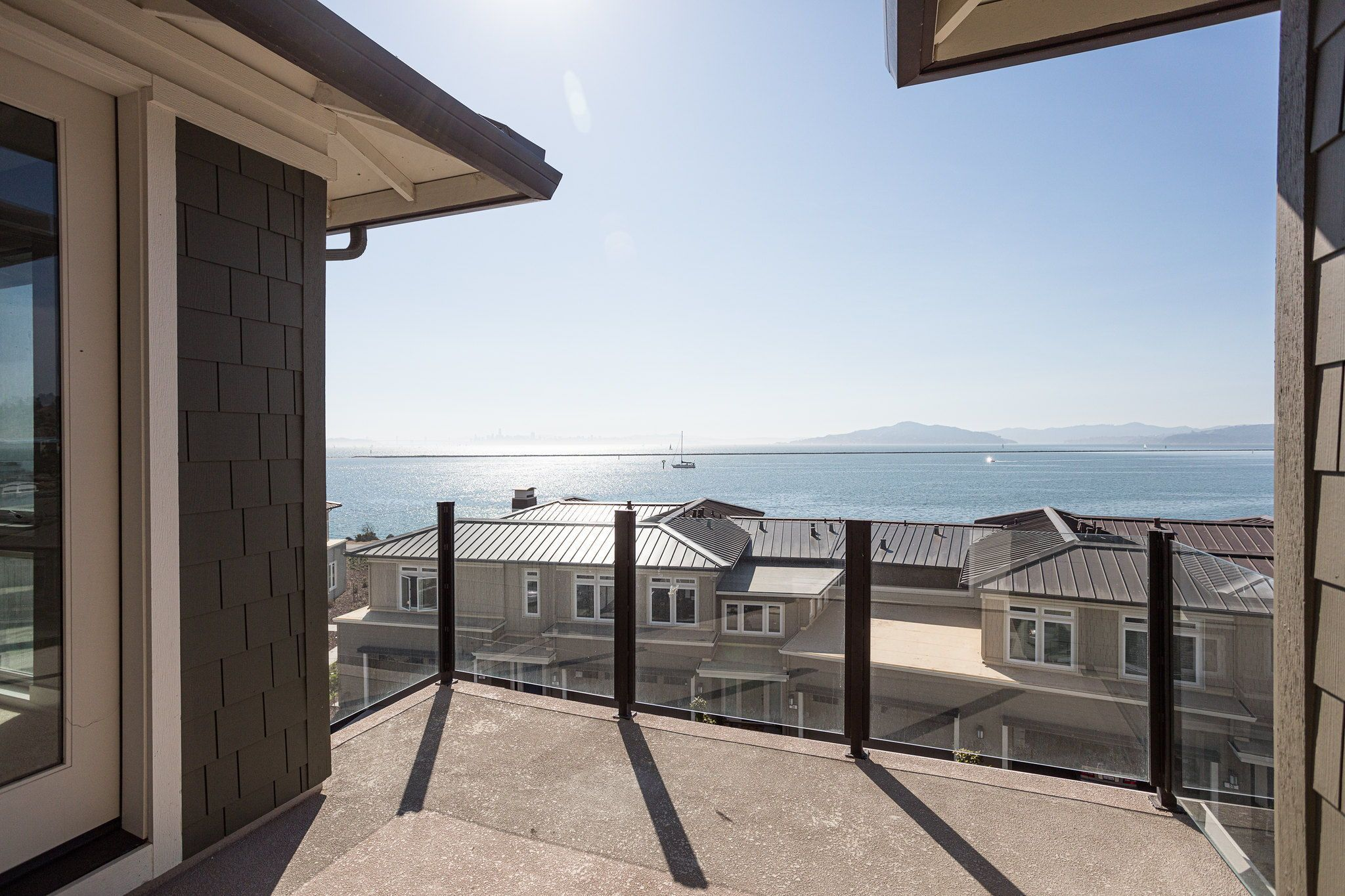 Waterline in Point Richmond, CA by Shea Homes | Residence 4 Deck #SheaHomes #SheaHomesNorCal #SheaHomeowners #SheaNorCal #LiveTheSheaDifference #NorCalHomes #NorCalRealEstate #BayAreaRealEstate #BayAreaNewHomes #HomeDesignInspiration #HomeInspiration #Waterline #PointRichmond Sales: Shea Homes Marketing Company (CalDRE #01378646); Construction: Shea Homes Limited Partnership (CSLB #855368). Equal Housing Opportunity.