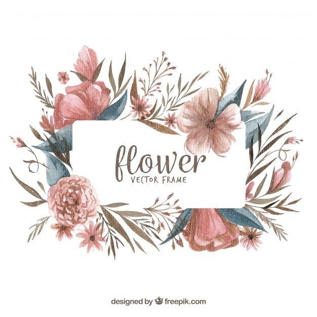 Telechargez Cadre Floral A L Aquarelle Moderne Gratuitement In