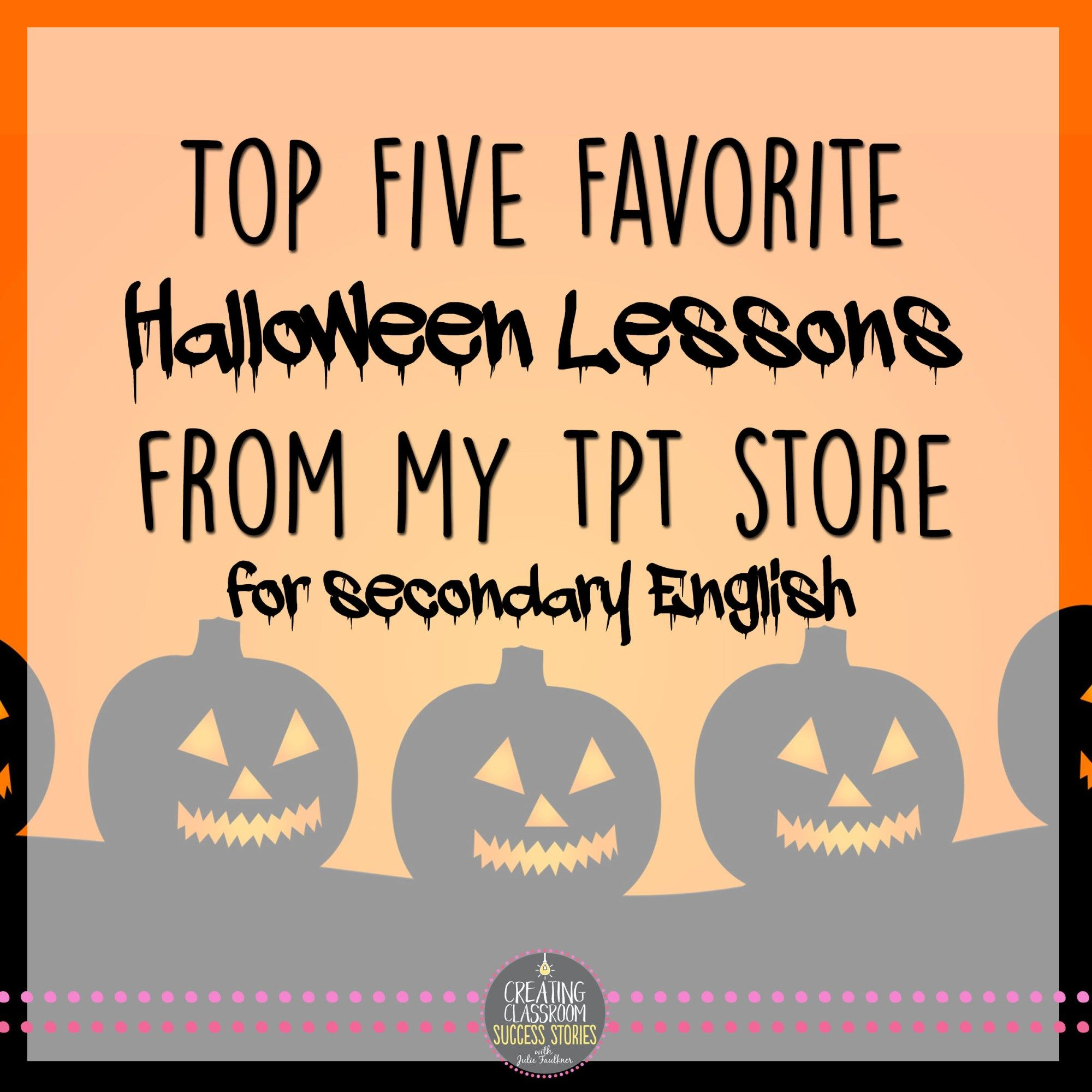 Top Halloween Lessons For Middle Or High School Teens