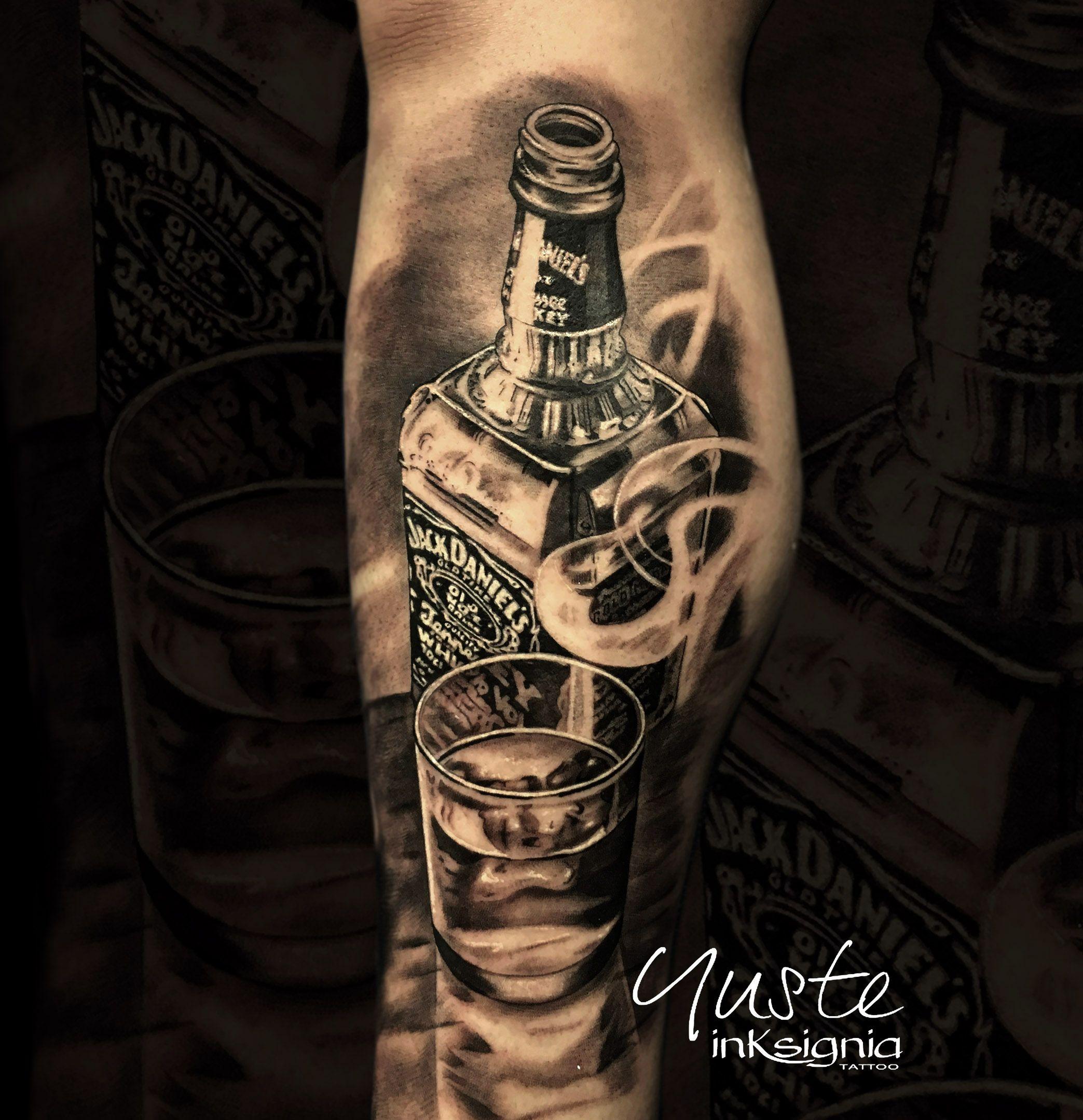 Jack daniels, whisky, botella, jackdaniels | Tattoo ...