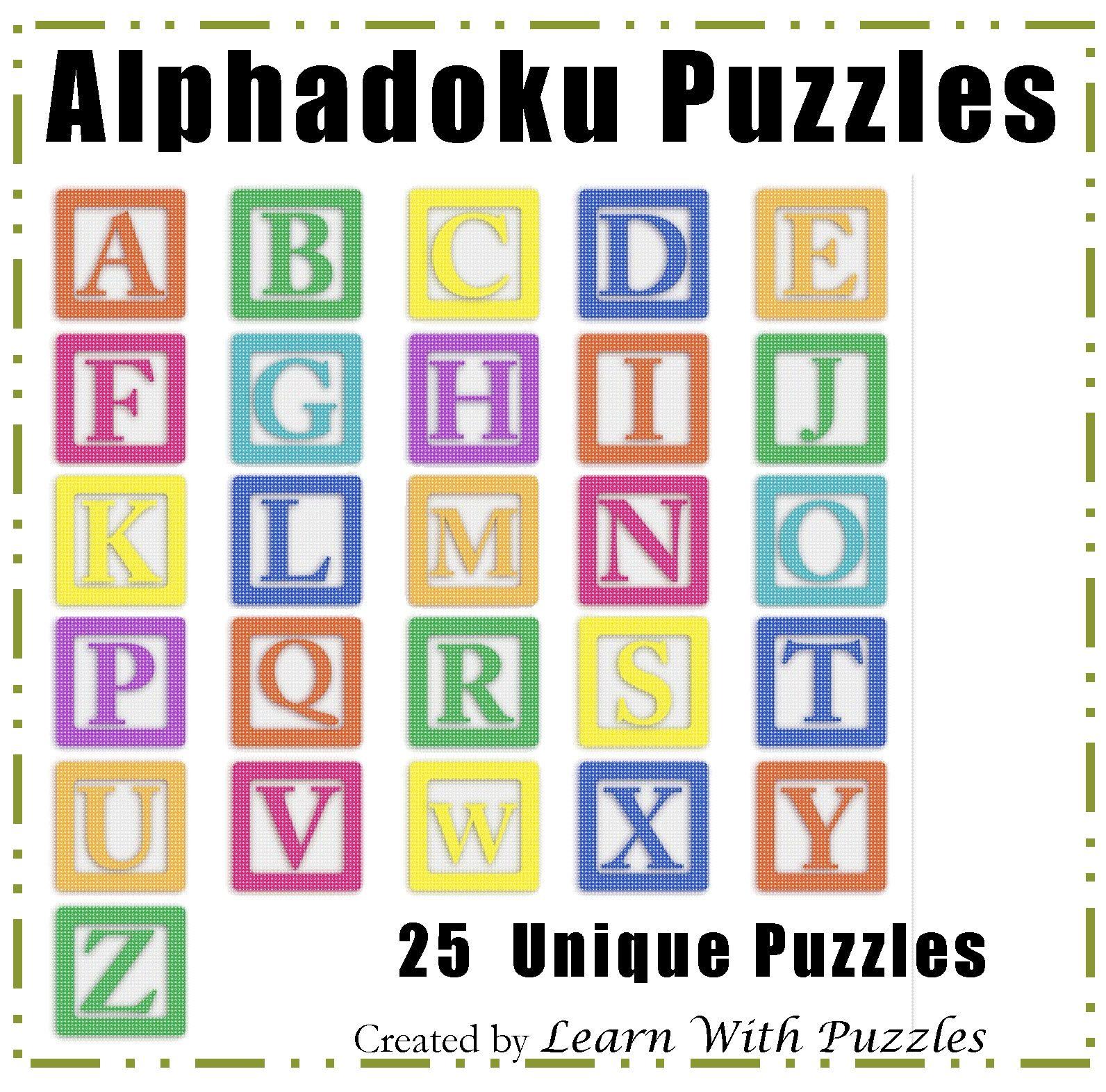 Alphadoku Puzzle Collection 25 UNIQUE Alphadoku Puzzle