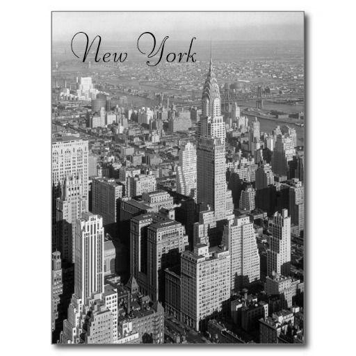 Black & White Vintage New York City Postcard | Zazzle com
