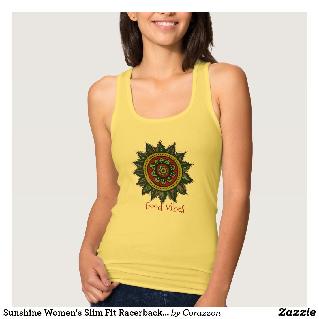Printed Racerback Top - Sun Mandala by VIDA VIDA Sale Fast Delivery Outlet With Paypal Order wge8nk