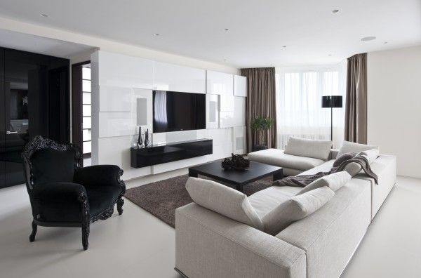 Modern Elegant Apartment Interiors In Moscow