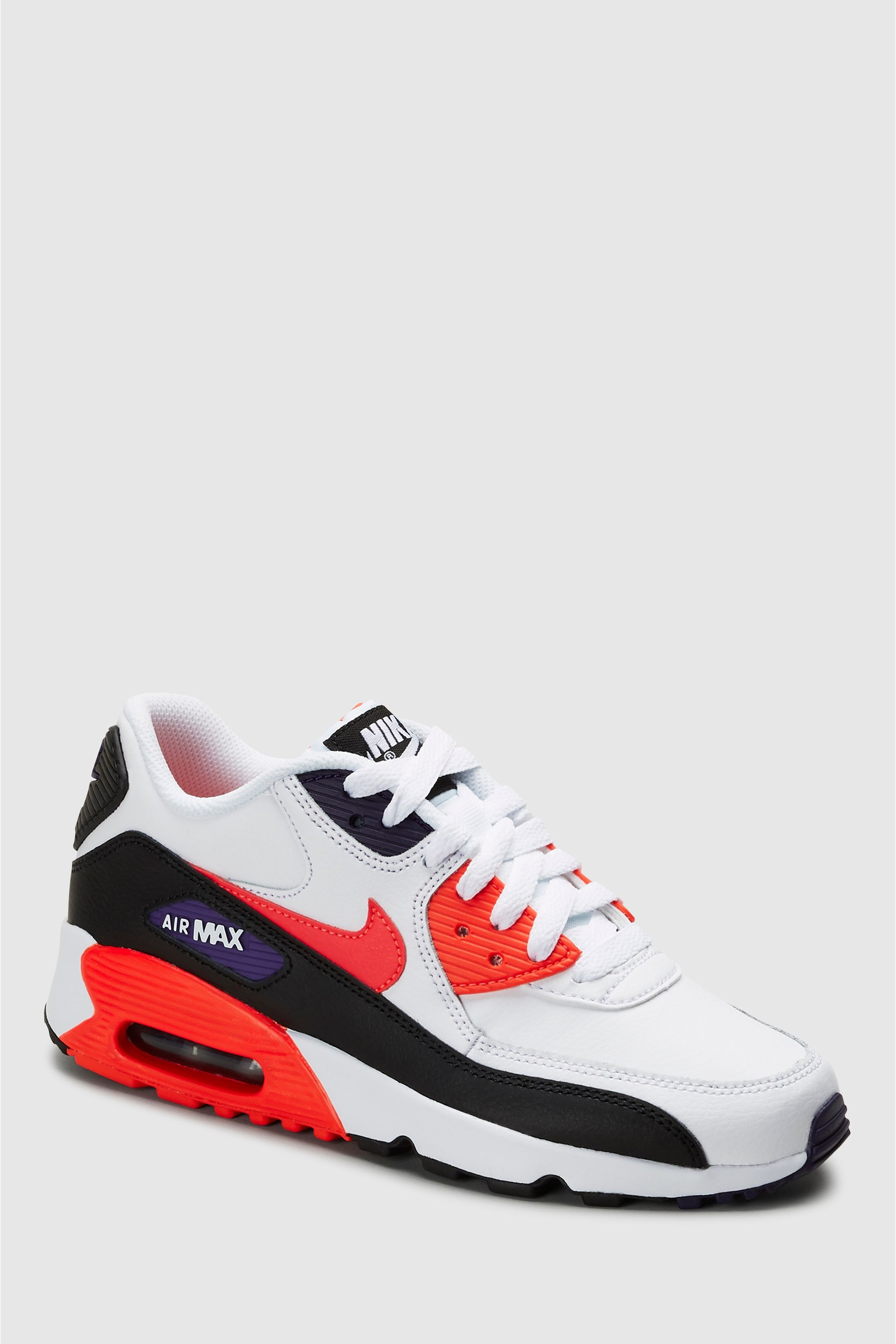 Nike White/Red Air Max 90 Youth