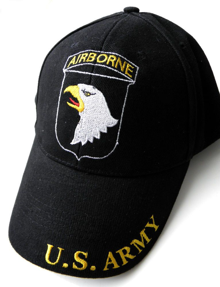 EMBROIDERED US ARMY 101ST AIRBORNE SCREAMING EAGLES BASEBALL CAP HAT in  Collectibles f0deacd26826