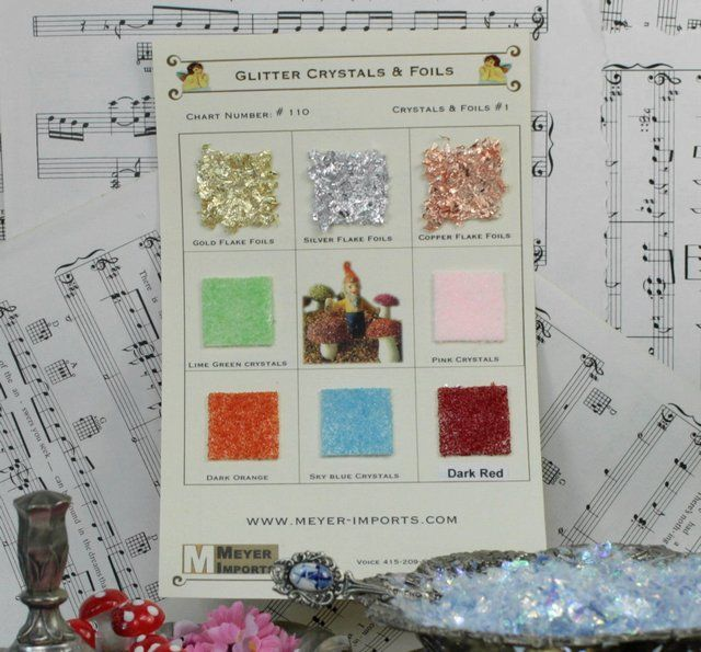 Sample Cards - Glitter Crystals and Foils - 110 Sample  Starter - Sample Cards