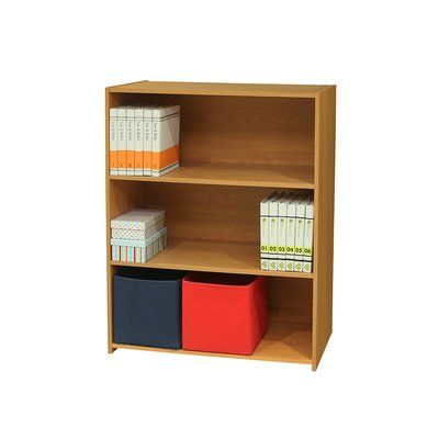 "Zipcode Design Miah Wood 3 Tier 41"" Standard Bookcase Finish: Light Brown"