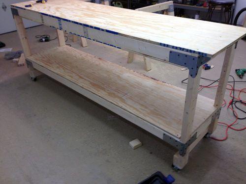 How To Build A Heavy Duty Workbench Garage Workbench Plans