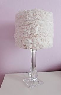 Girly diy lampshade using shabby rosette trim from hobby lobby and a girly diy lampshade using shabby rosette trim from hobby lobby and a glue gun audiocablefo