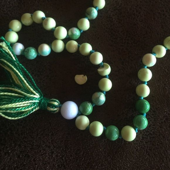 Mother's Day Mala Not for sale but am trying to message seller. @farfromhomemala got this in the mail finally and as my mom opened it a little piece fell out:( turned out one of the mala stone had been broken in half. Trying to contact you please let me know if you get this. Thank you so much -Abigale Accessories
