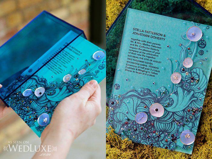 Stunning Aquatic Theme Wedding Invitation By Palettera Themed