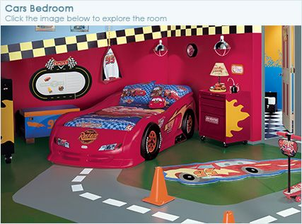 Cars bedroom, Major busy but I like some of the colors and ...