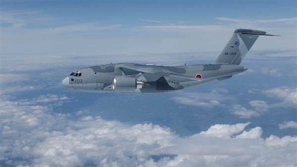 開発が完了した航空自衛隊の新型主力輸送機「C2」(防衛省提供 ...