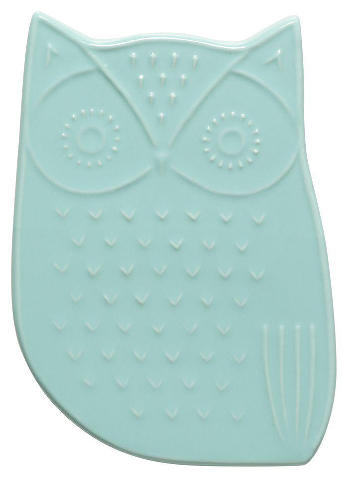 Features:  -Soft aqua color.  -Material: Ceramic.  -Owl shape.  Product Type…