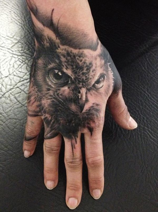 Owl Tattoo Designs On Hand