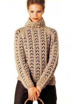 Blusa De Frio Em Croche Camisola De Crochet Blusas De Croche