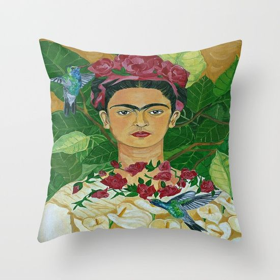 Frida In Heaven Throw Pillow