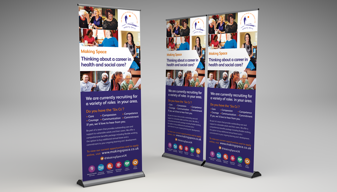 Making Space Thinking About A Career Banner Making Space Roller Banner Banner Printing