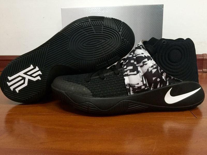 bdcfa19ea221 2016-2017 Sale Nike Kyrie 2 Black White Oreo Black New Arrival 2016 ...