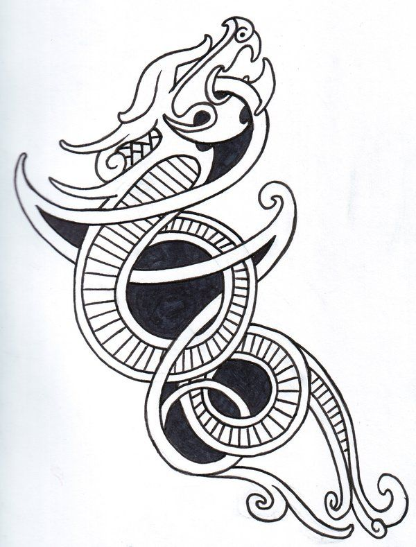 Viking Dragon Outline By Vikingtattoo On Deviantart