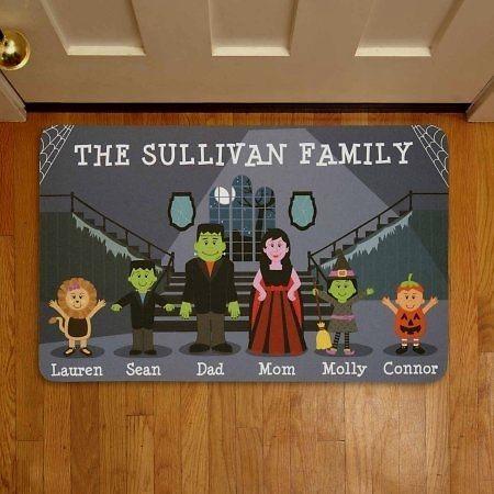 Personalized Spooky Family Halloween #Doormat   couponash