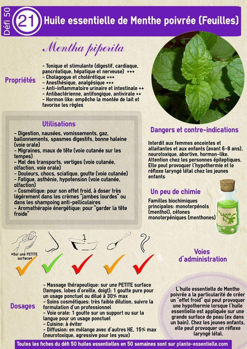 comment utiliser huile essentielle menthe poivrée