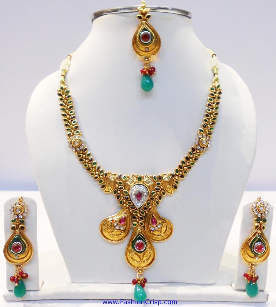 Indian Gold Jewellery Designs Necklace | Gold Jewellery ...