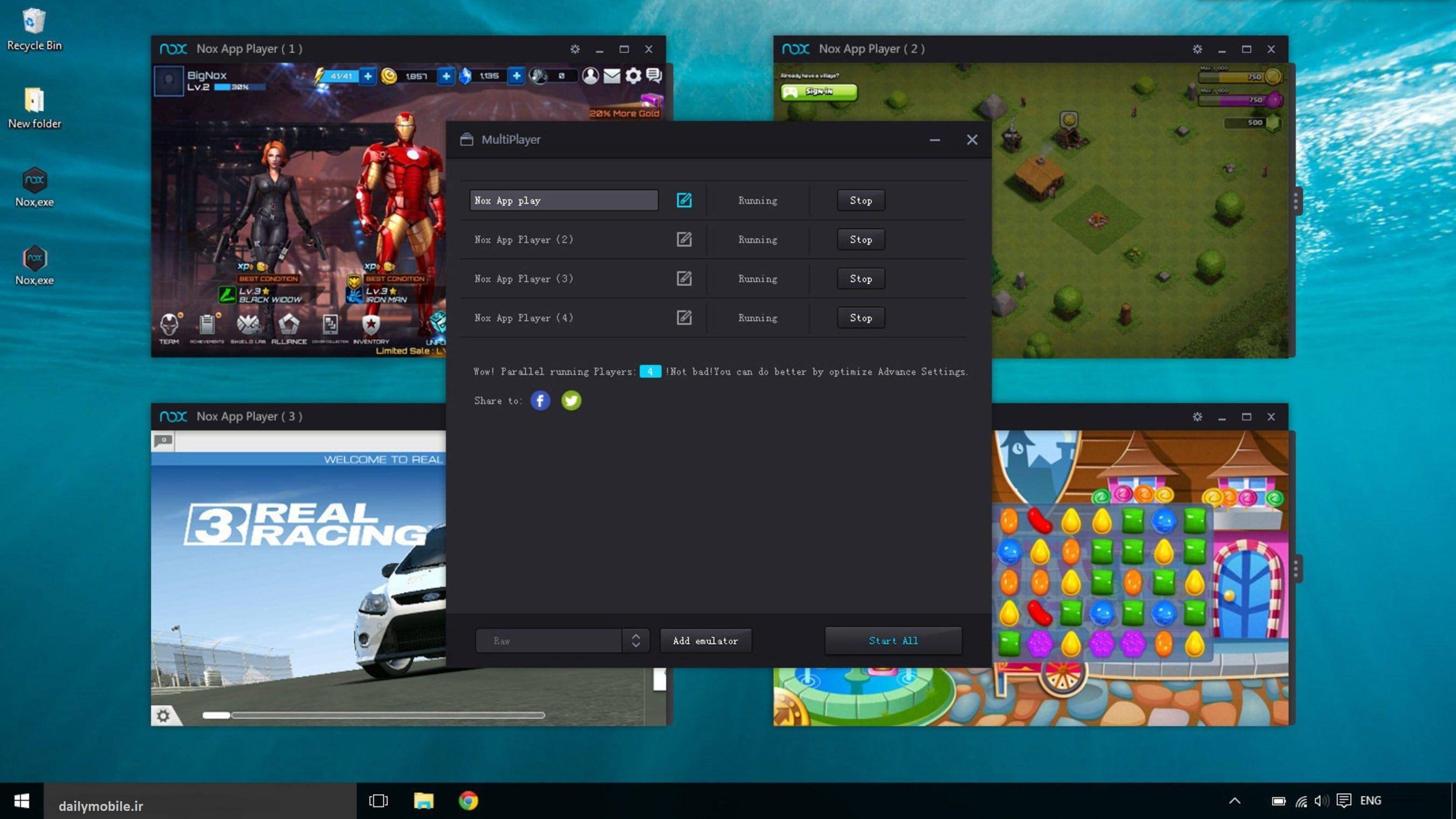 دانلود نسخه جدید برنامه Nox App Player شبیه ساز اندروید بر