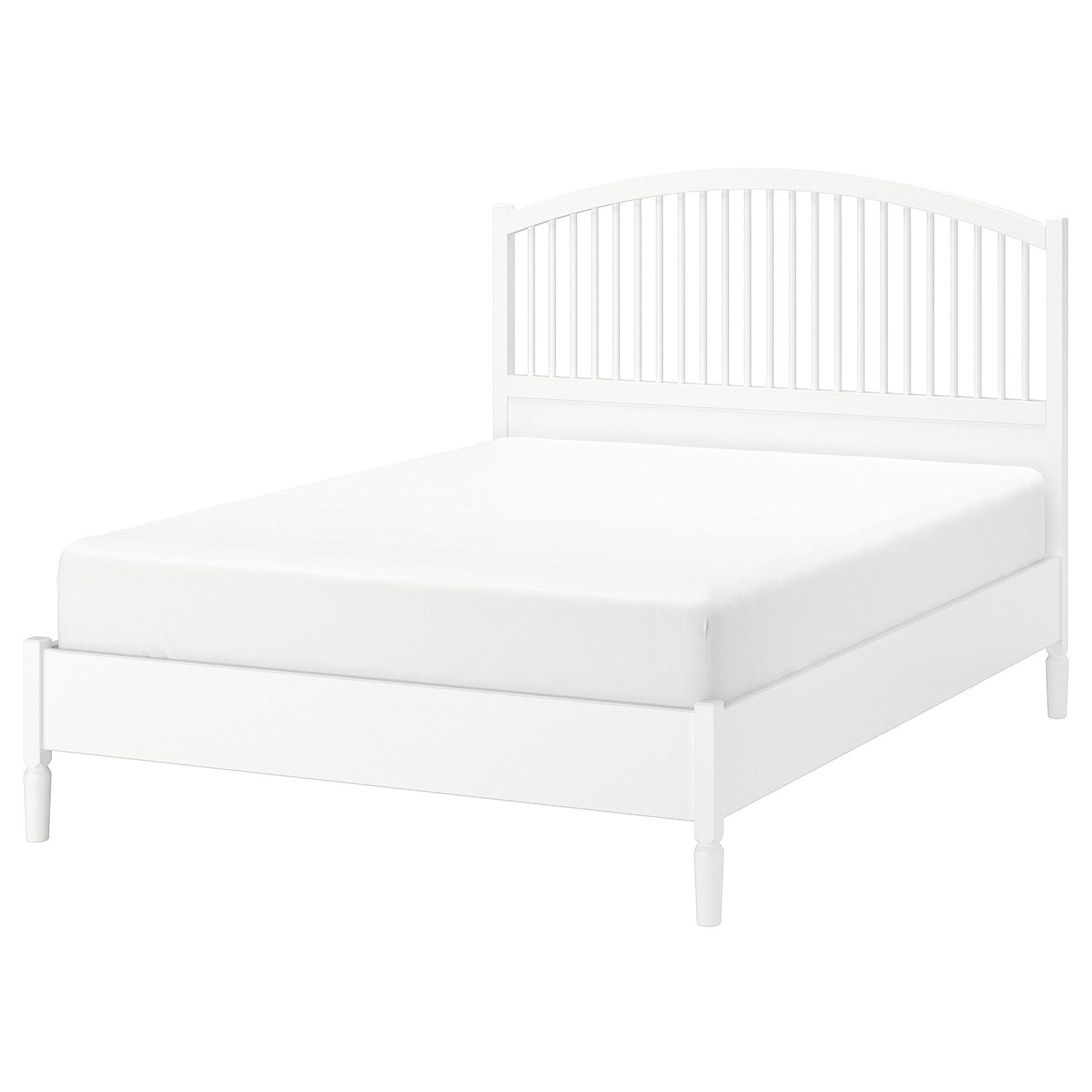 Tyssedal Bedframe Wit 160x200 Cm Ikea In 2020 Bed Frame Ikea Tyssedal King Size Bed Frame