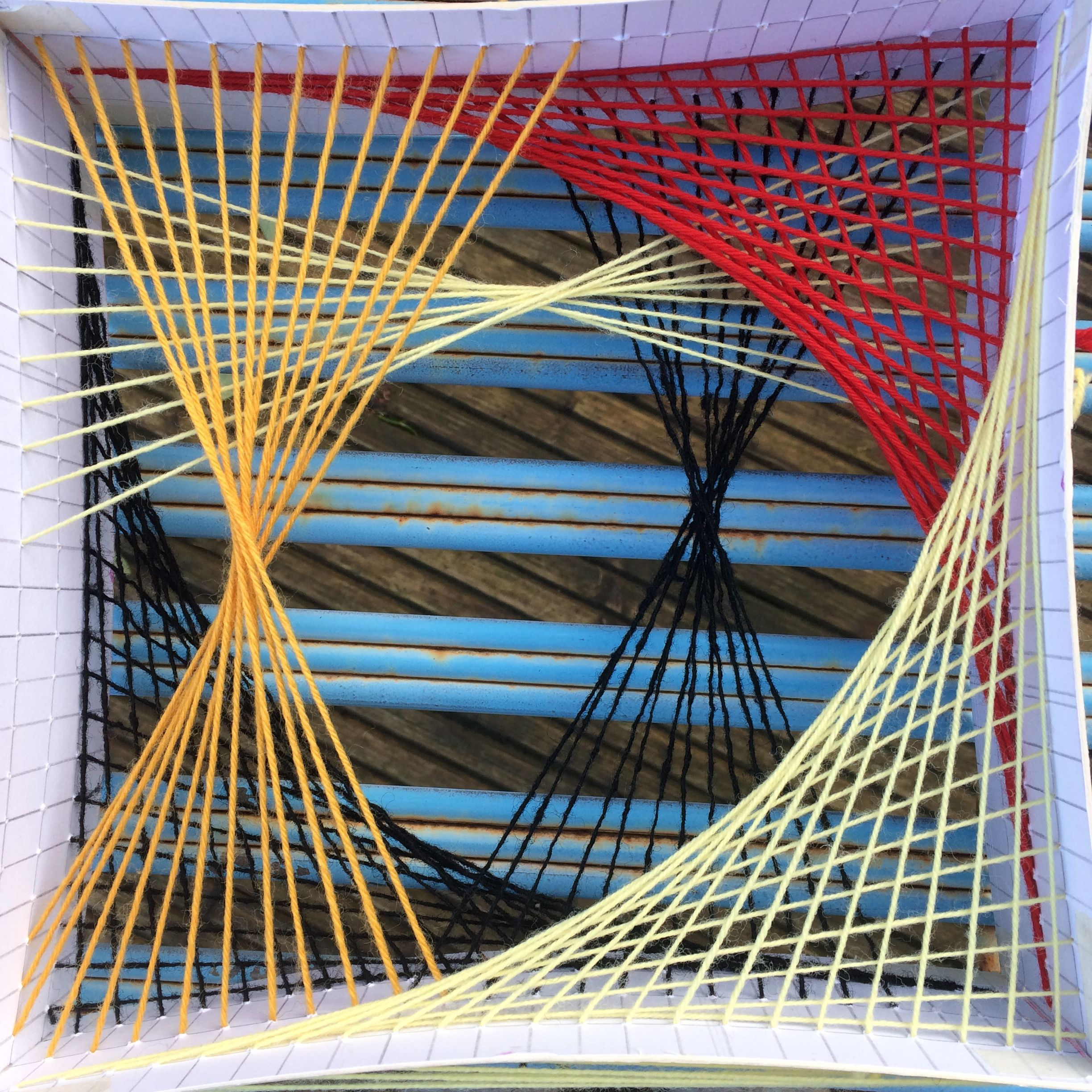 Parabolic Curves Made With Wool By Stephanie Beaumont Reed