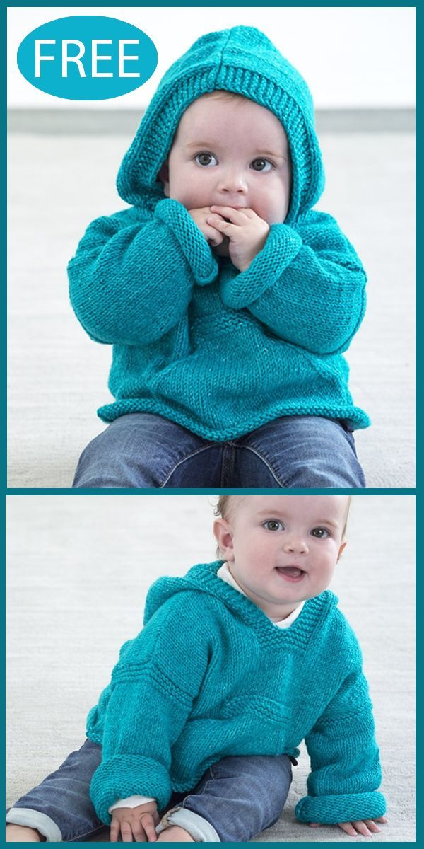 Free Knitting Pattern for Diego Hoodie Pullover